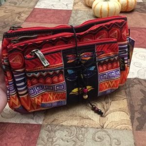 Laurel Burch set Of 3 new butterfly makeup bags
